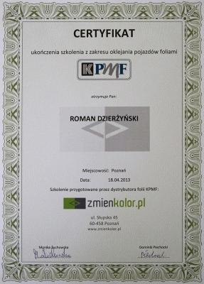 Certyfikat KPMF Varimutos